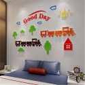 Happy Train Good Day Acrylic Wall Art