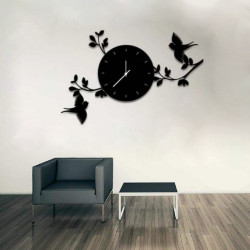 Birds With The Branches Wall Clock