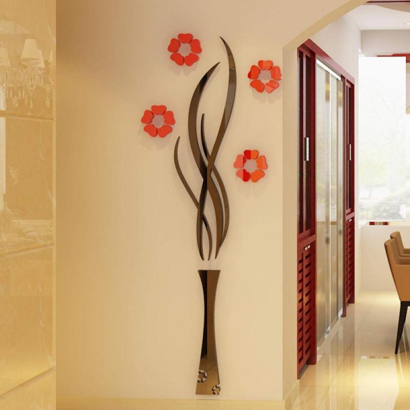 Vase Hill Flower Acrylic Wall Art