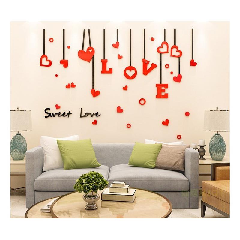 Sweet Love Hearts Acrylic Wall Art