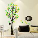 Tree and Bird Cage 3D Acrylic Wall Art