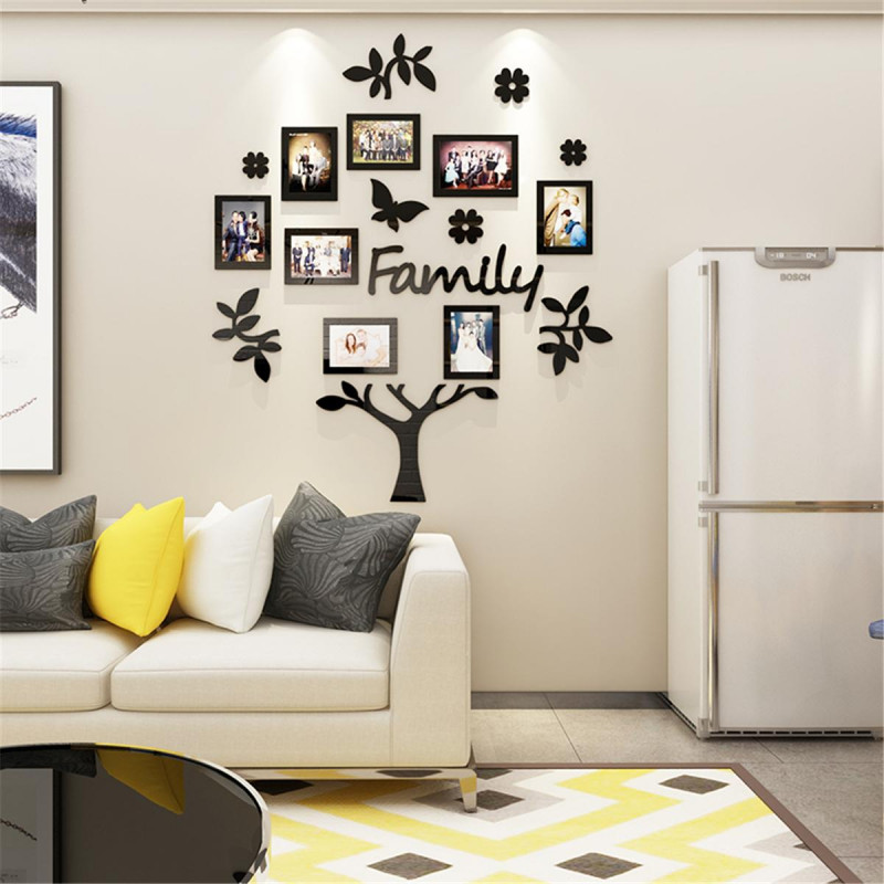 Frame Set Family Tree With Butterfly Acrylic Wall Art