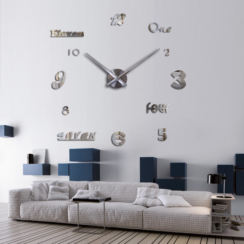 DIY 3D Acrylic Wall Clock I-115