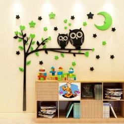 Owl Tree With Mood Acrylic Wall Art