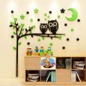Owl Tree With Mood Acrylic Wall Art