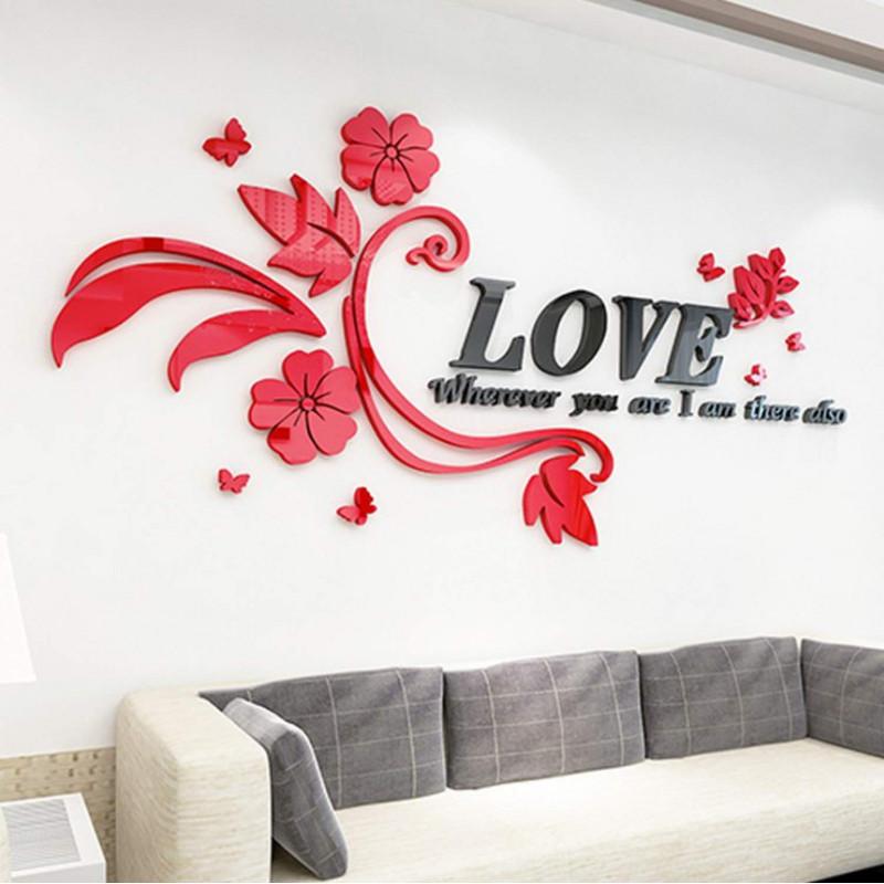 Floral Love Acrylic Wall Art