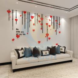 Heart Design All my Life Acrylic Wall Art