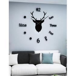 Nordic Deer DIY 3D Acrylic Wall Clock I-130