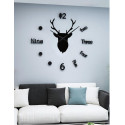 Nordic Deer DIY 3D Acrylic Wall Clock I-130