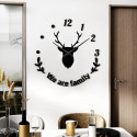 Deer Family DIY 3D Acrylic Wall Clock I-131