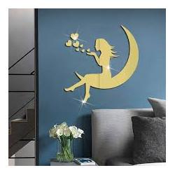 Girl On The Moon Acrylic Wall Art
