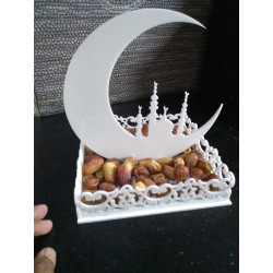 Islamic Dates Tray Acrylic Art T-004