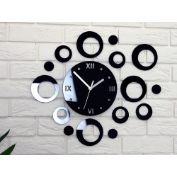Round Roman Acrylic Wall Clock