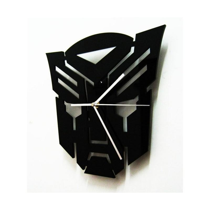 Black Mask Acrylic Wall Clock