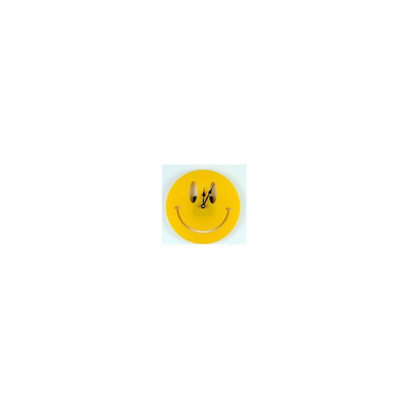 Yellow Smile Acrylic Wall Clock