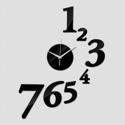 1 to 7 Numbers Acrylic Wall Clock