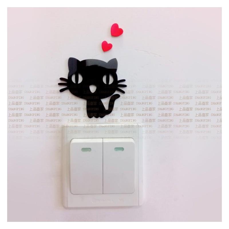 Cute Cat Acrylic Switch Panel Art