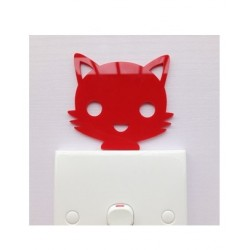 Red Cat Red Acrylic Switch Panel Art
