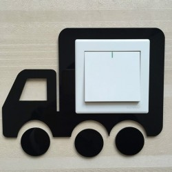 Vehicle Black Acrylic Switch Panel Art