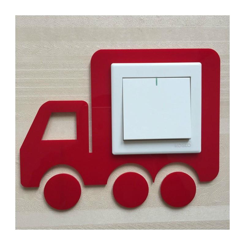 Vehicle Red Acrylic Switch Panel Art