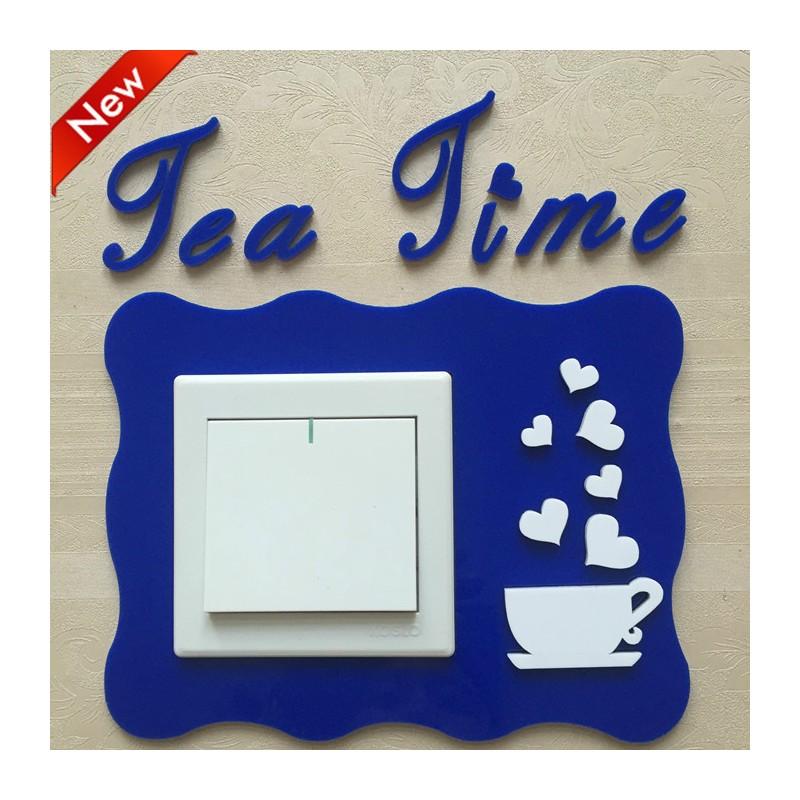 Tea Time Blue Acrylic Switch Panel Art