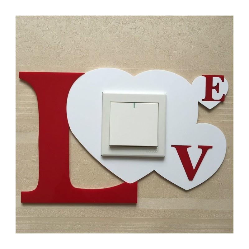 Love Acrylic Switch Panel Art