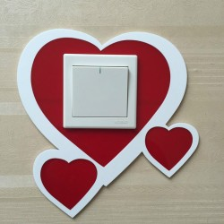 Love Hearts Acrylic Switch Panel Art