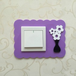 Flower Purple Acrylic Switch Panel Art