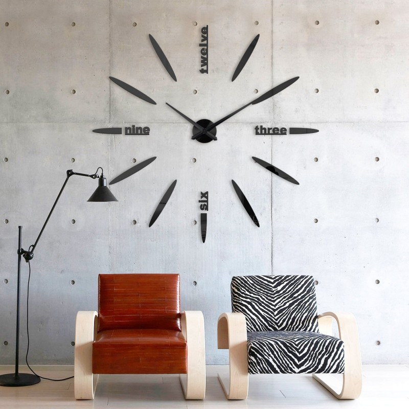 DIY 3D Acrylic Wall Clock I-100