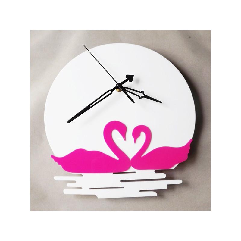 Floating Duck Moonlight Acrylic Wall Clock