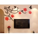 Flower Vine Corner Bail Acrylic Wall Art
