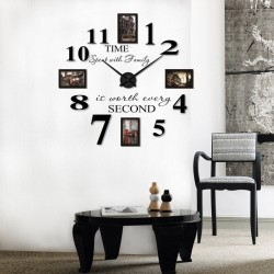 DIY 3D Acrylic Wall Clock With Frames I-108