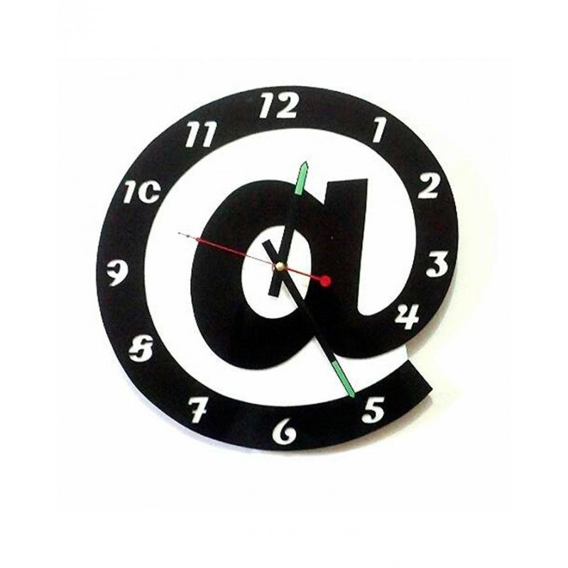 At The Rate Acrylic Wall Clock