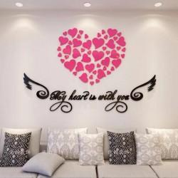 My Heart Acrylic Wall Art