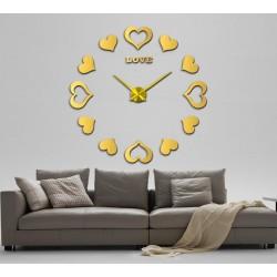 DIY 3D Hearts Acrylic Wall Clock I-117