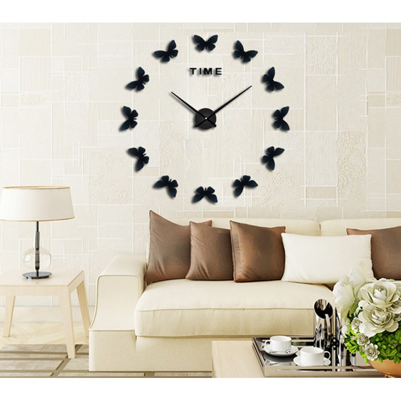 DIY 3D Butterflies Acrylic Wall Clock I-117