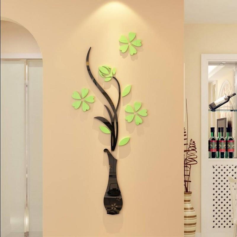 Iris Vase 3D Acrylic Wall Art
