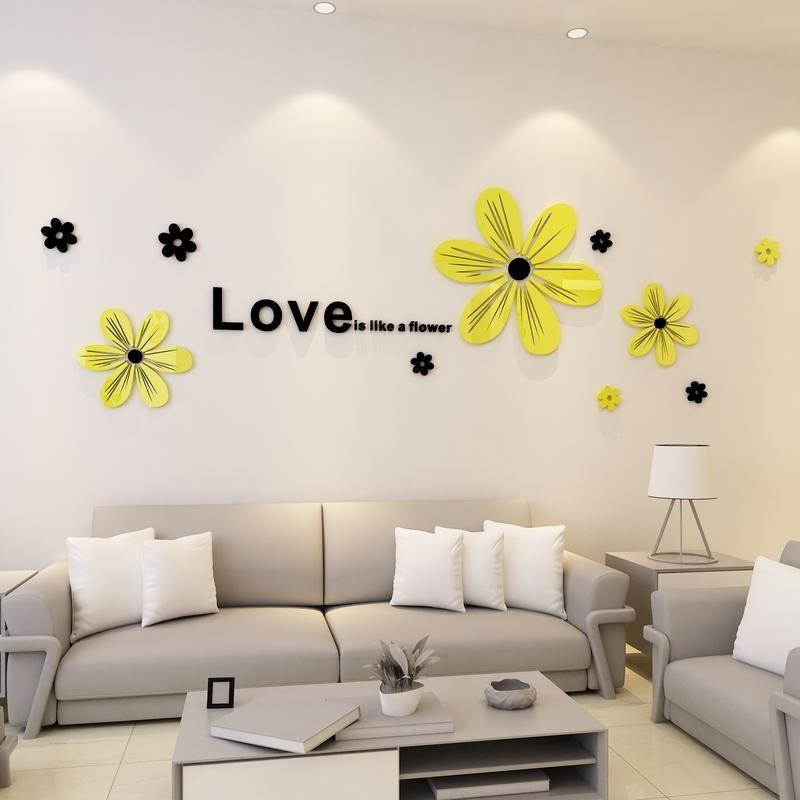 Love is like a Flower Acrylic Wall Art