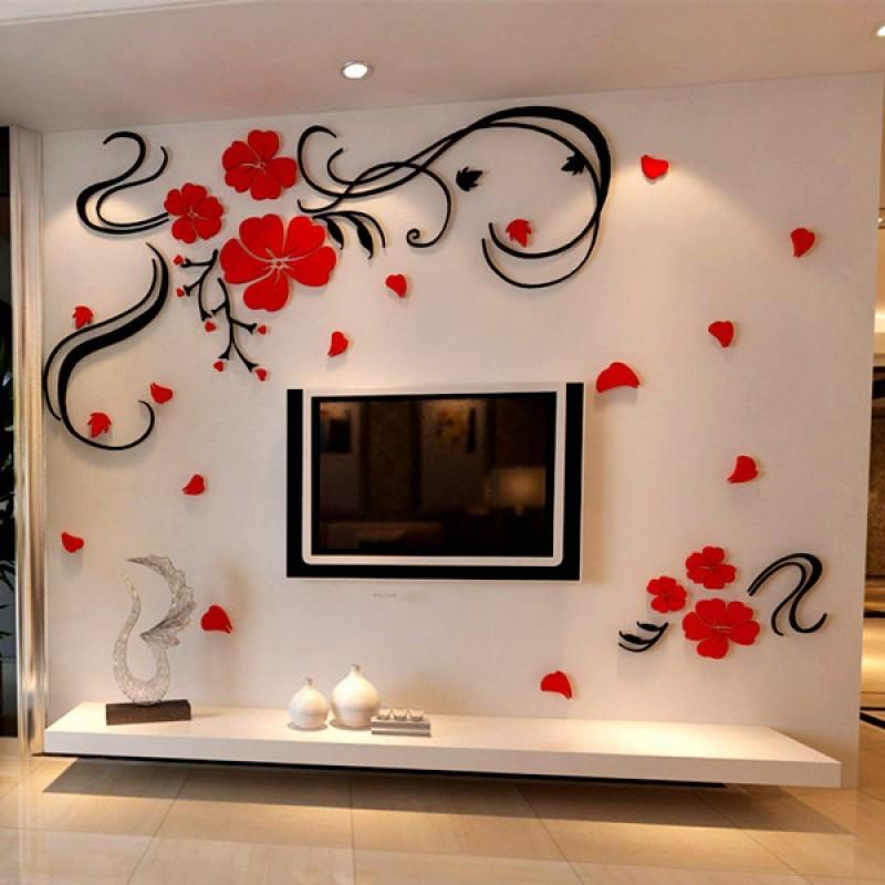 Tulip Stereo Flower Bail Acrylic Wall Art