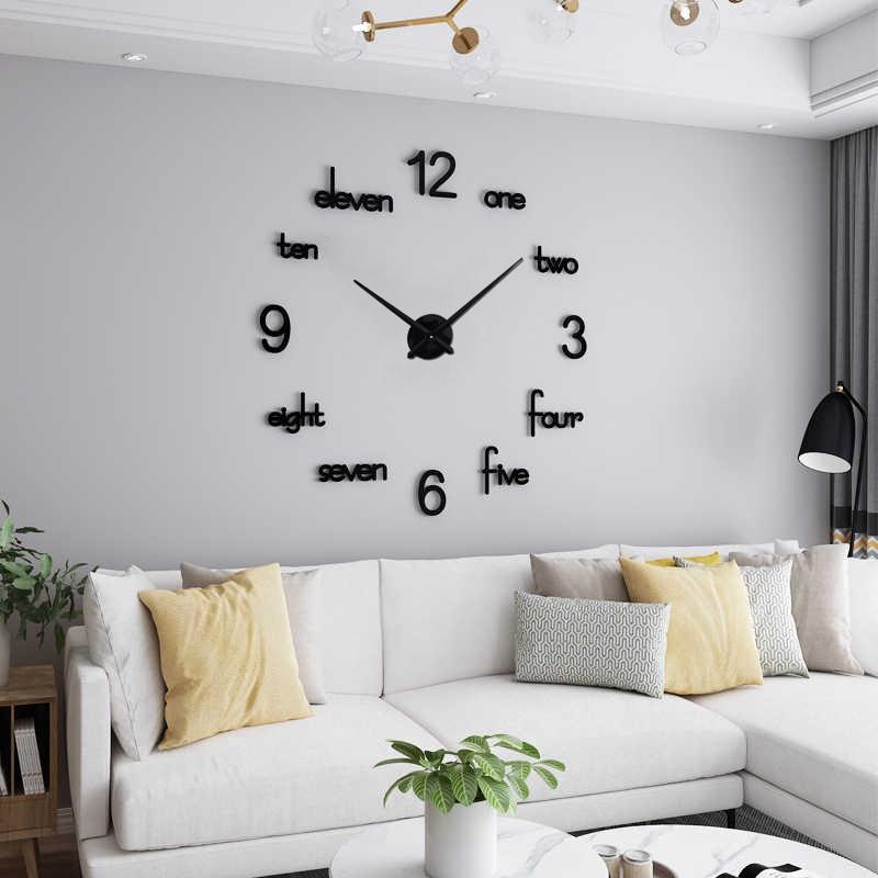 DIY 3D Acrylic Wall Clock I-126