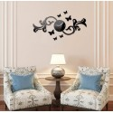 Butterfly Bail Acrylic Wall Clock