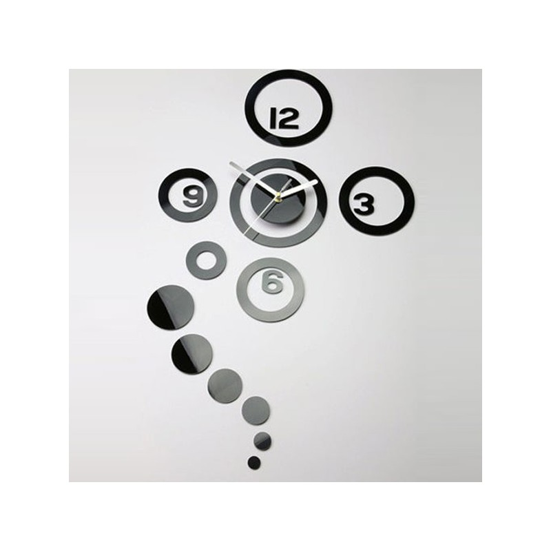 Round Shape Rings Acrylic Wall Clock