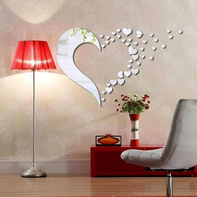Flying Hearts Acrylic Wall Art